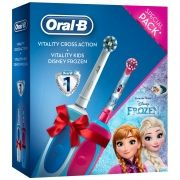 Periuţă de dinţi electrică Oral-B Cross Action + Vitality Kids Frozen